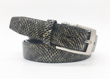 1 1/4 Wide Womens Sabuk Kulit Asli Terang Snake Grain Dress Belt BRACHI