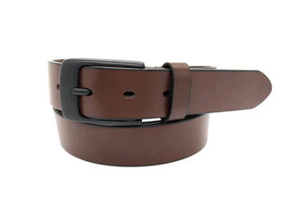 Kenakan Tahan Kulit Mens Dress Belt Dengan Black Alloy Buckle 35mm