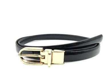 1.5cm Fashion Wanita Kulit Kurus Dress Belt Dengan Logam Clip Buckle